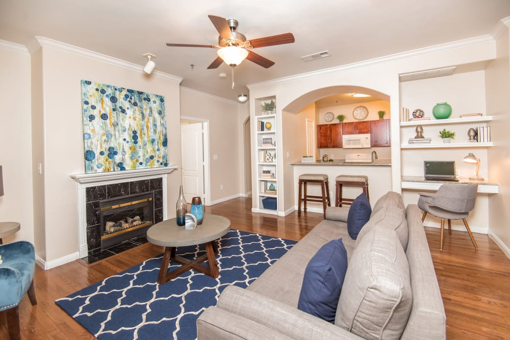 Our apartments in Farmers Branch, Texas showcase a spacious living room