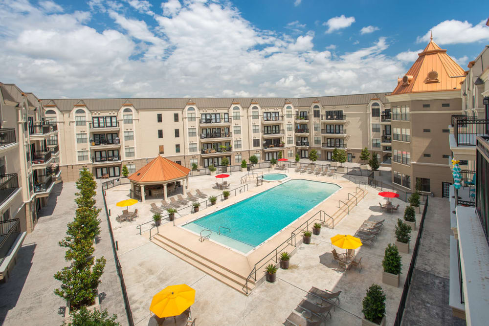Our apartments in Farmers Branch, Texas showcase a luxury swimming pool