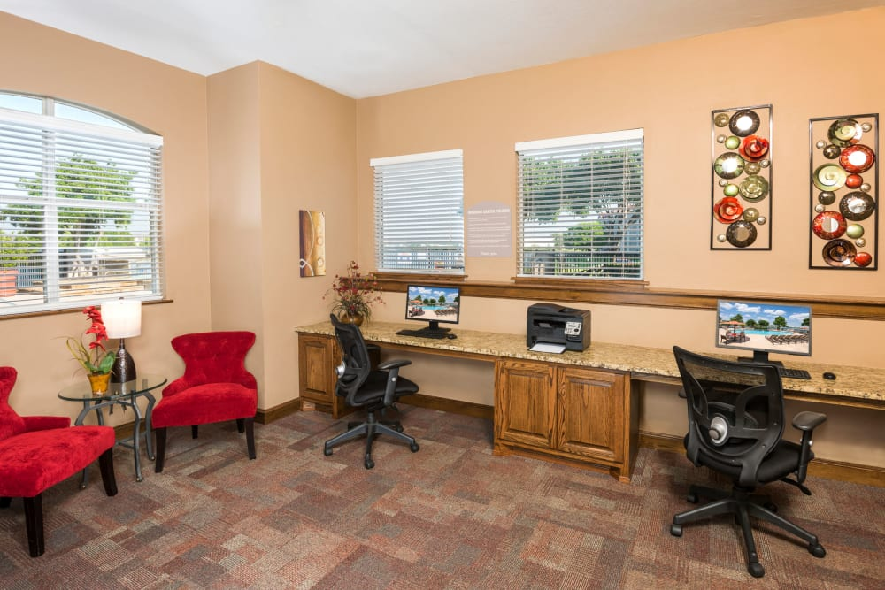 Business office at Crescent Cove at Lakepointe in Lewisville, Texas