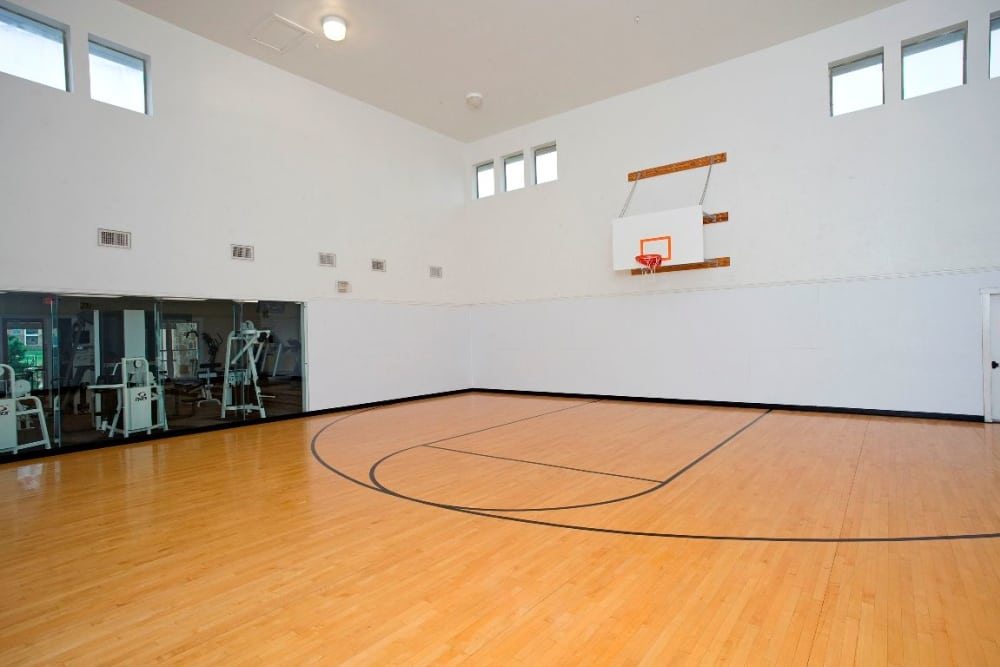 Basketball court at apartments in McKinney, Texas
