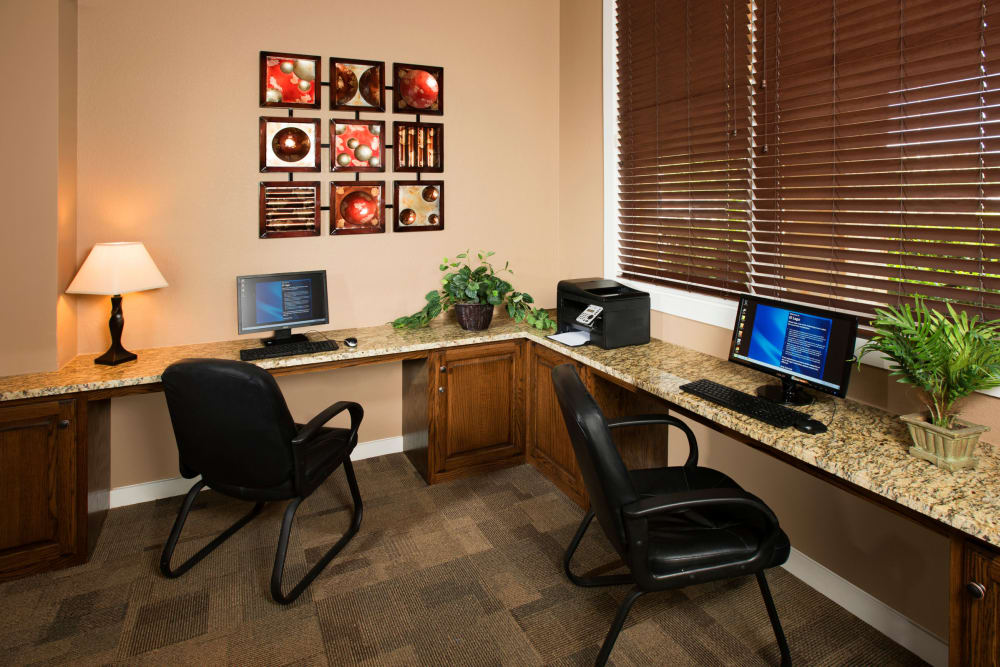 Business office at El Lago Apartments in McKinney, Texas