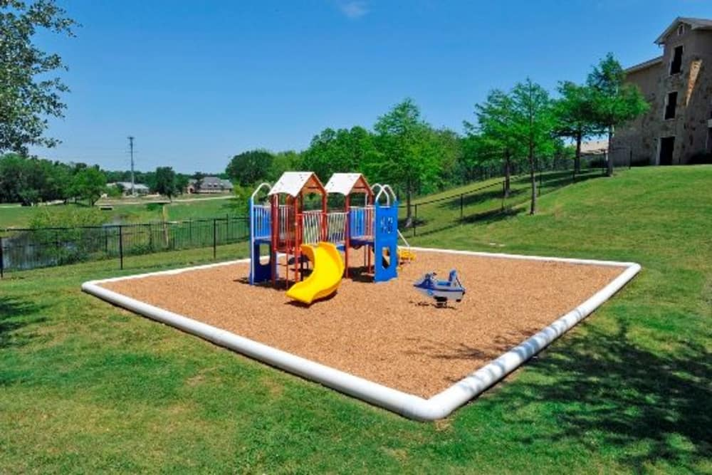 Unique playground at apartments in McKinney, Texas