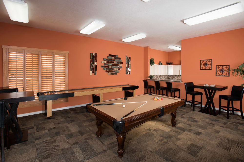 Game room at El Lago Apartments in McKinney, Texas