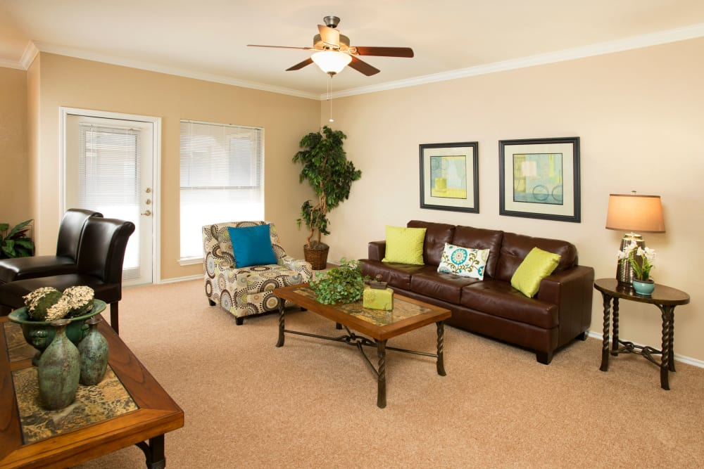 Our apartments in McKinney, Texas showcase a spacious living room