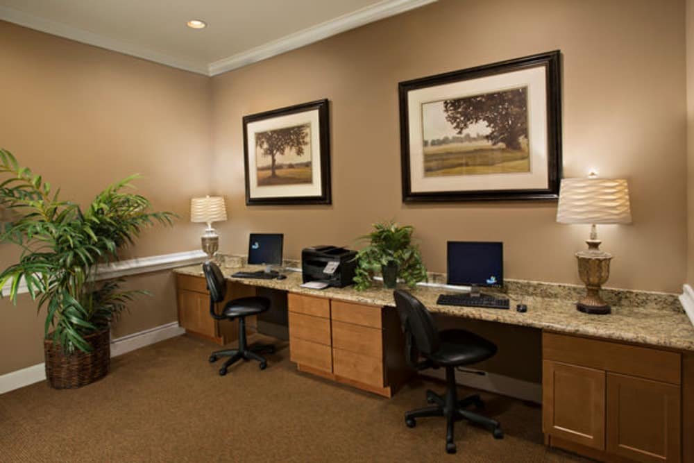 Business office at Estancia at Ridgeview Ranch in Plano, Texas