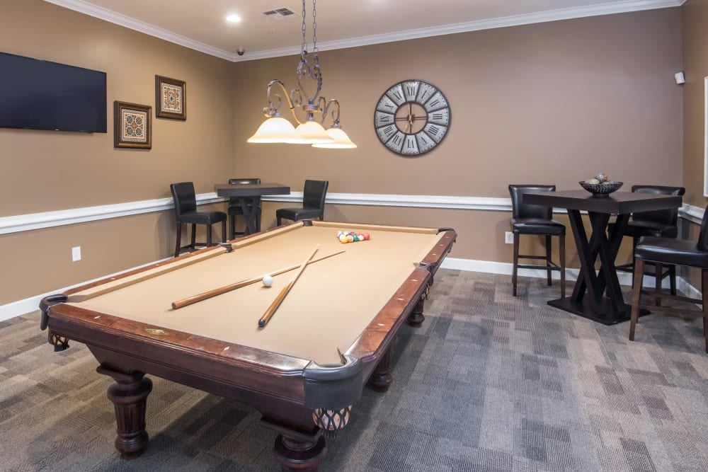 Game room at Estancia at Ridgeview Ranch in Plano, Texas