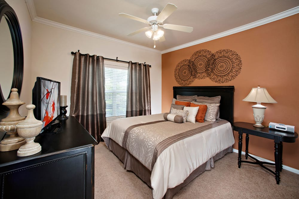 Spacious bedroom at apartments in Plano, Texas