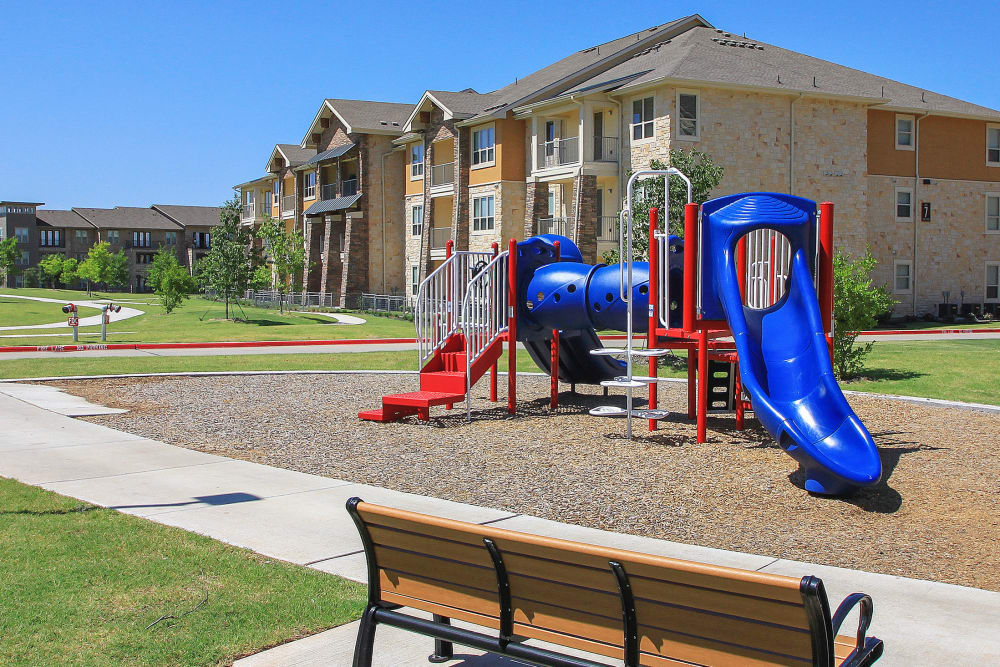 Playground at apartments in Richardson, Texas