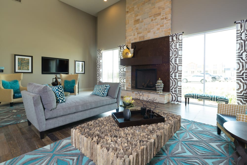 Modern living room at Estates of Richardson in Richardson, Texas