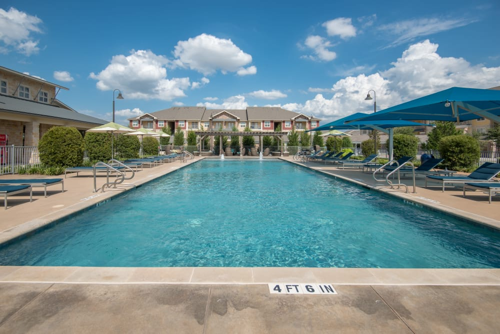 Spacious swimming pool at Estates of Richardson in Richardson, Texas