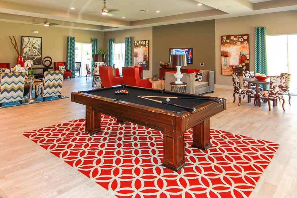 Game room at Estates of Richardson in Richardson, Texas