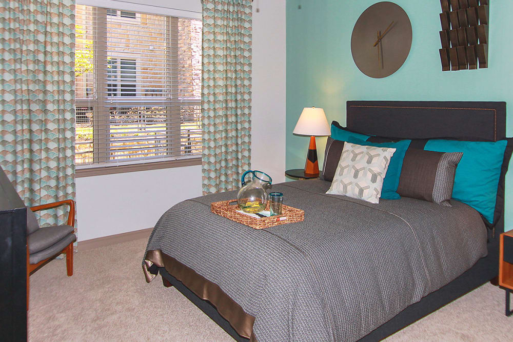 Enjoy apartments with a unique bedroom at Estates of Richardson in Richardson, Texas