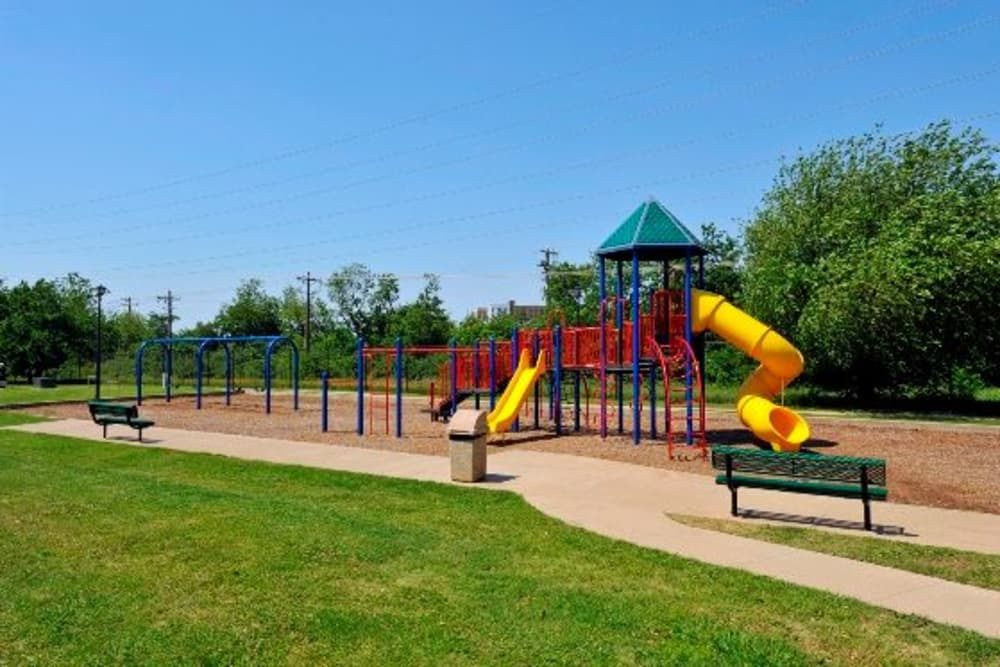 Enjoy apartments with a playground at Lakeview at Parkside