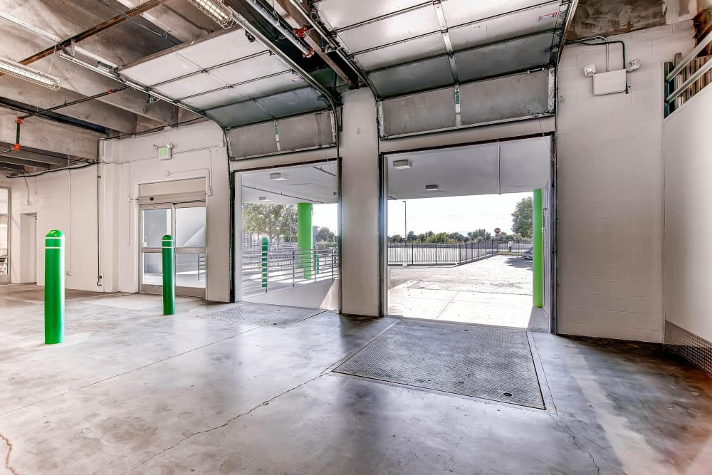 Loading dock area at Greenbox Self Storage in Denver, Colorado