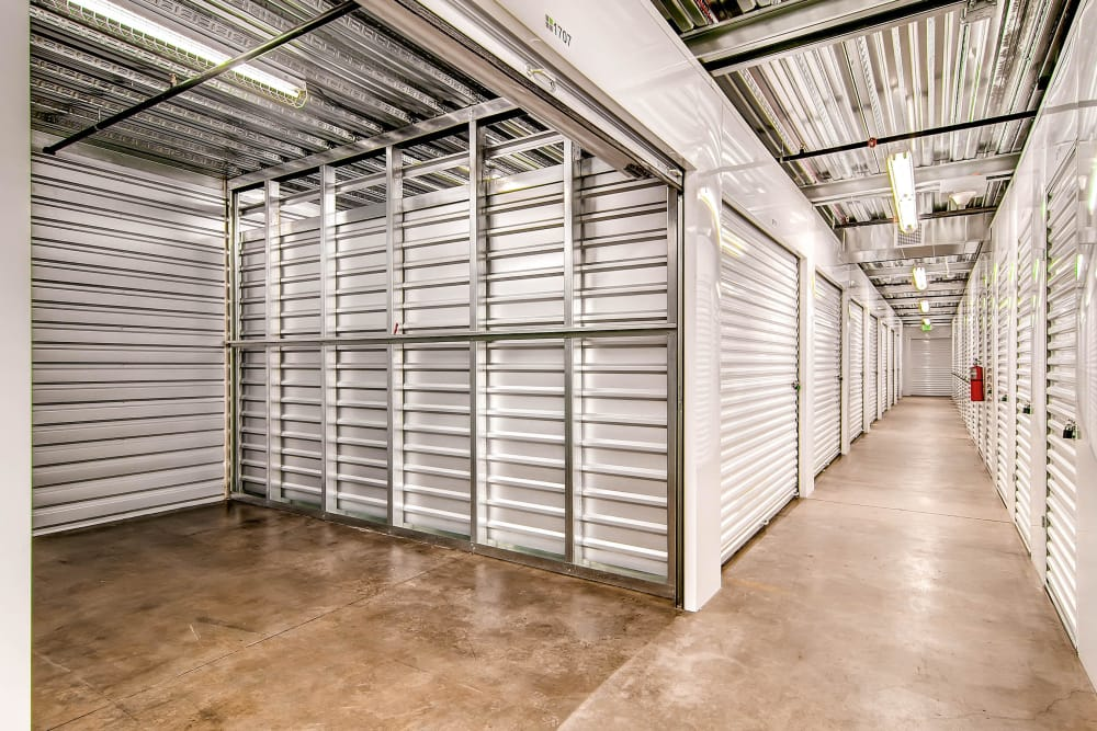 Inside of a unit at Greenbox Self Storage in Denver, Colorado