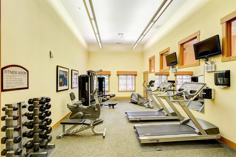 Onsite fitness center at Brooks Landing in Modesto, CA