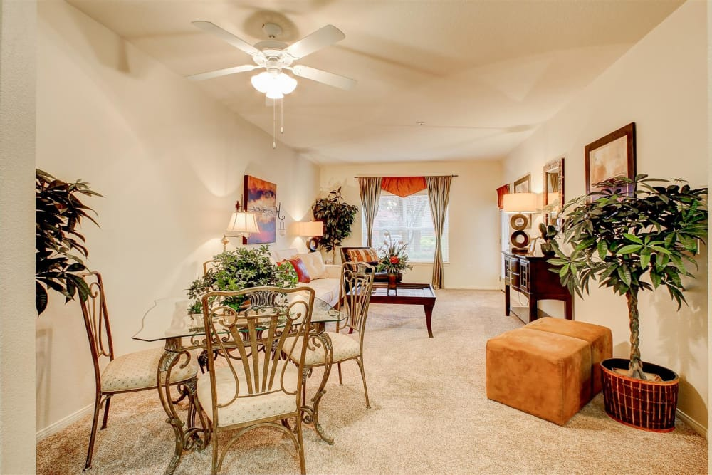 Spacious and open floor plans in model home at Brooks Landing in Modesto, CA