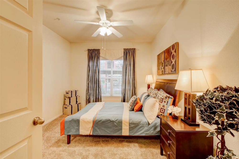 Large master bedroom in model home at Brooks Landing in Modesto, CA