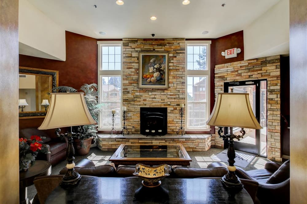 Beautifully decorated resident clubhouse interior at Sterling Pointe in Flagstaff, AZ