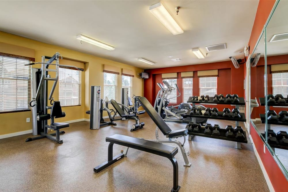Onsite fitness center with all the equipment you need at Sterling Pointe in Flagstaff, AZ
