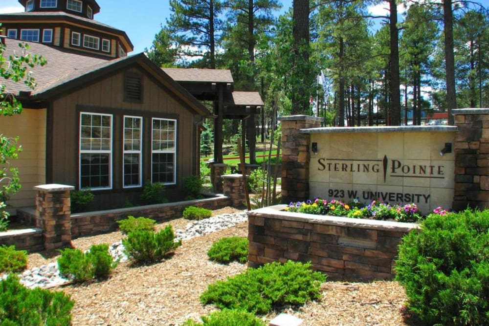 Our community sign at Sterling Pointe in Flagstaff, AZ