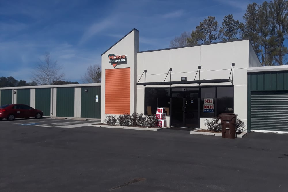 Front exterior of Monster Self Storage in Greenwood, South Carolina