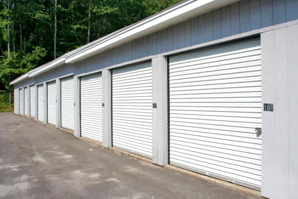 Outdoor units at Prime Storage in York, Maine