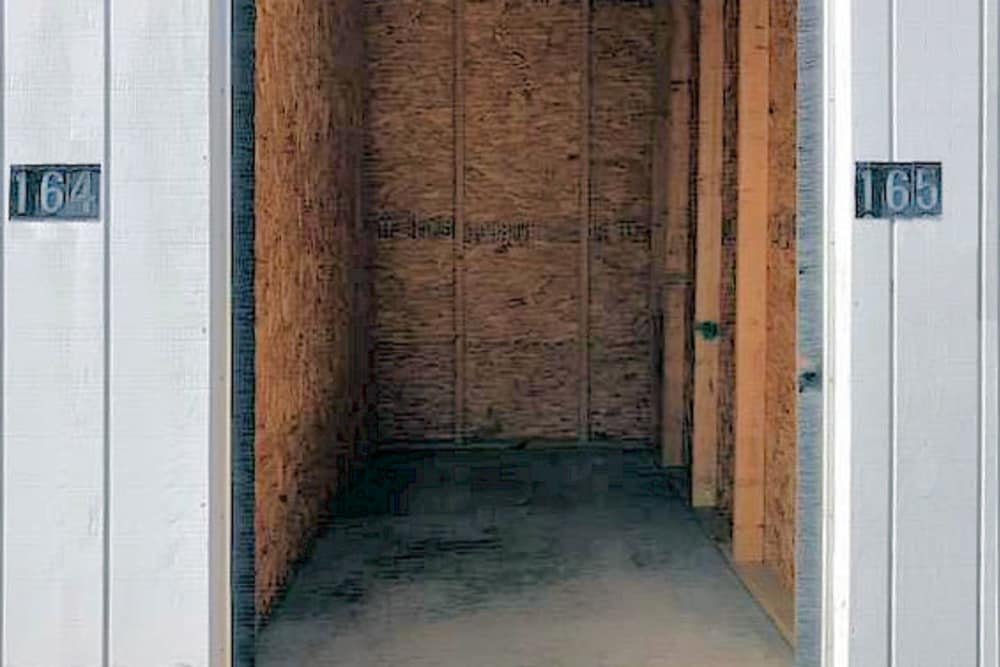 Interior of unit at Prime Storage in York, Maine