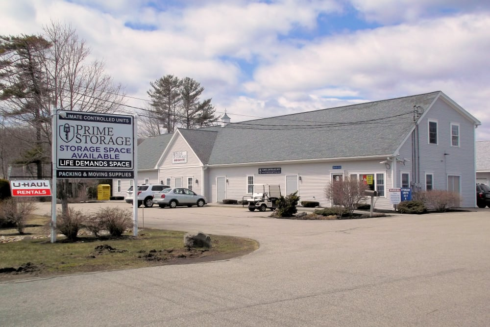 Entrance at Prime Storage in York, Maine