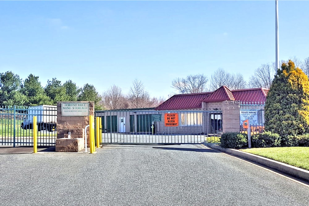 Entrance at Forest Hill Mini-Storage in Forest Hill, Maryland