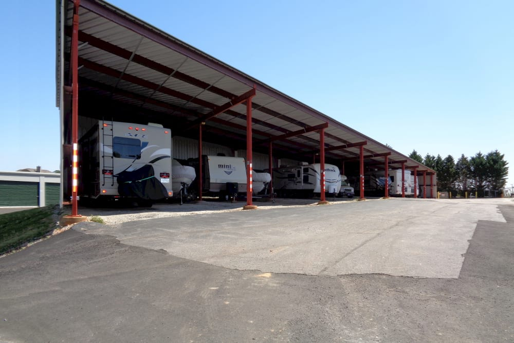 Covered parking at Prime Storage in Simpsonville, South Carolina