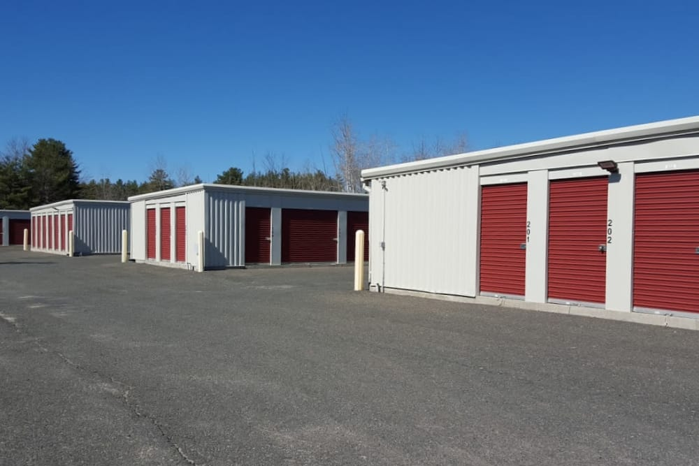 Drive-up units available at Prime Storage in Pittsfield, Massachusetts
