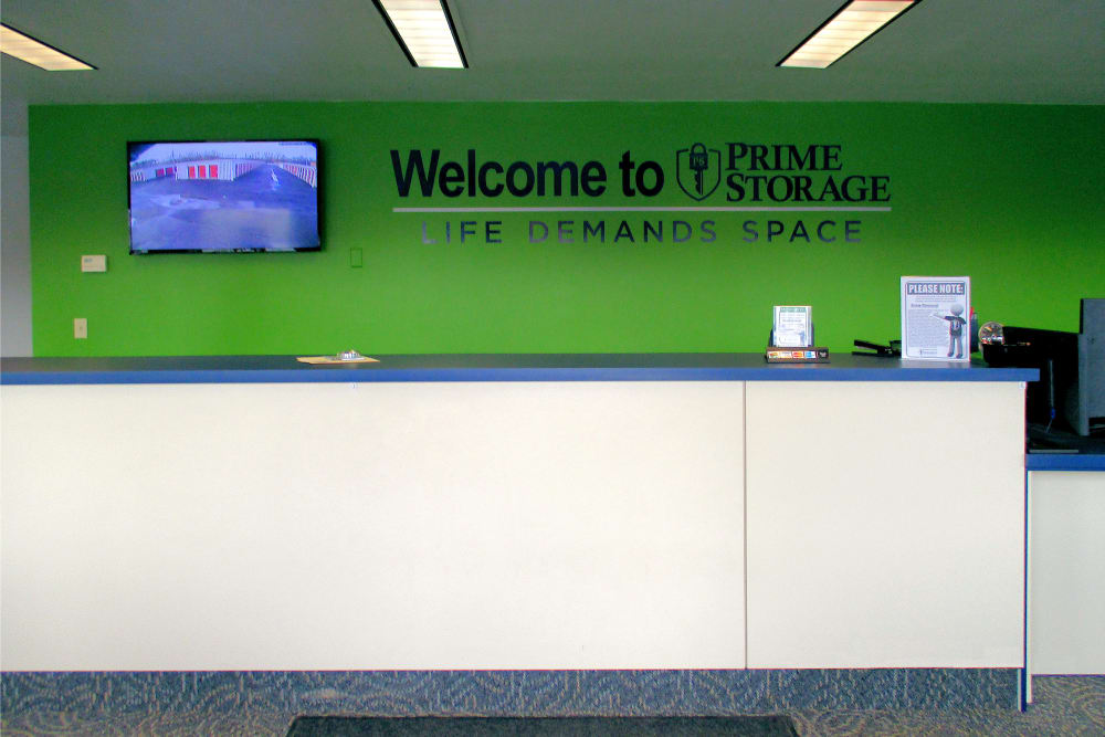 Prime Storage leasing office in Pittsfield, Massachusetts