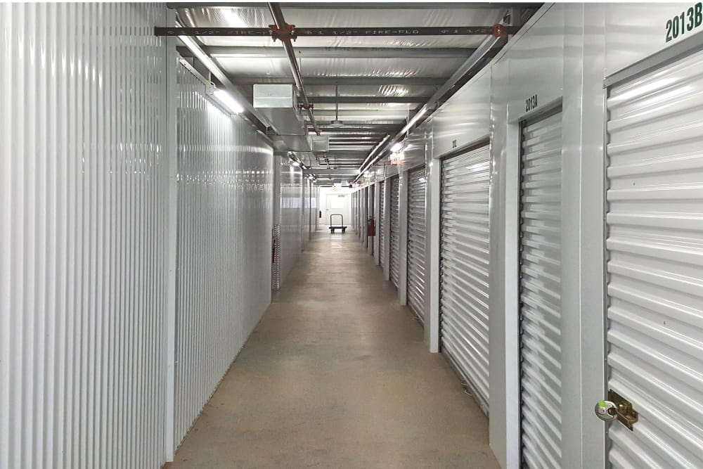 Hallway of units at Prime Storage in Rock Hill, South Carolina