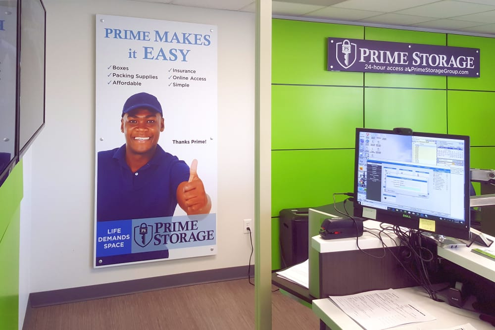 Prime Storage leasing office in Rock Hill, South Carolina