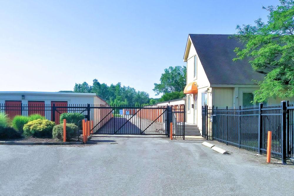 Gated entrance at Prime Storage in Lansing, Michigan