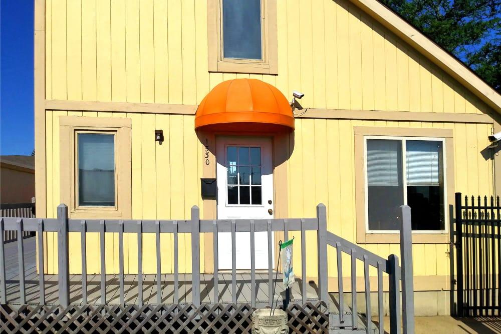 Leasing office at Prime Storage in Lansing, Michigan