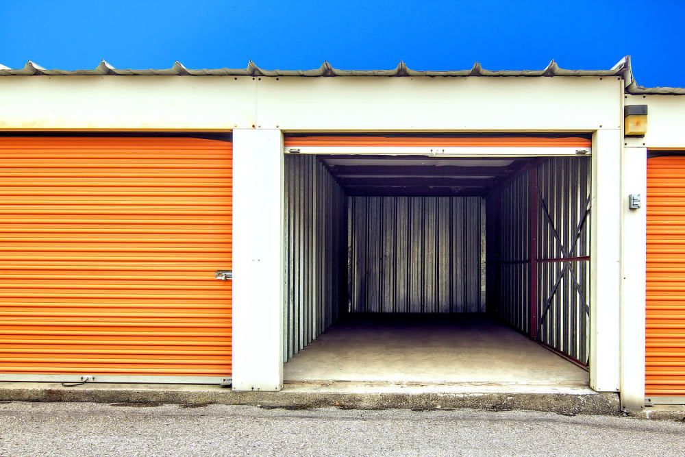 Drive-up access units at Prime Storage in Lansing, Michigan