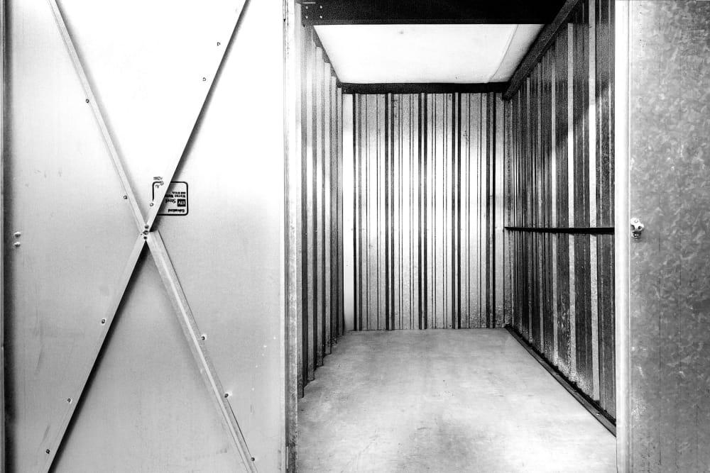 Interior view of unit at Prime Storage in Lansing, Michigan