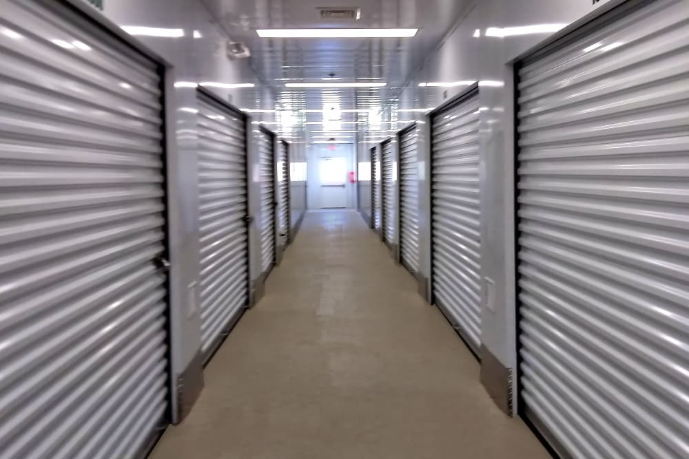Hallway of units at Putnam Storage in Danbury, Connecticut