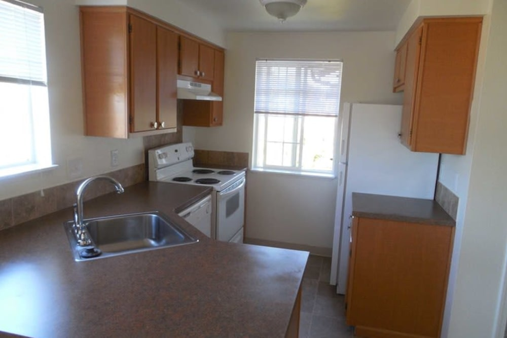 Beautiful kitchen at Conifer Place Apartments in Corvallis, Oregon