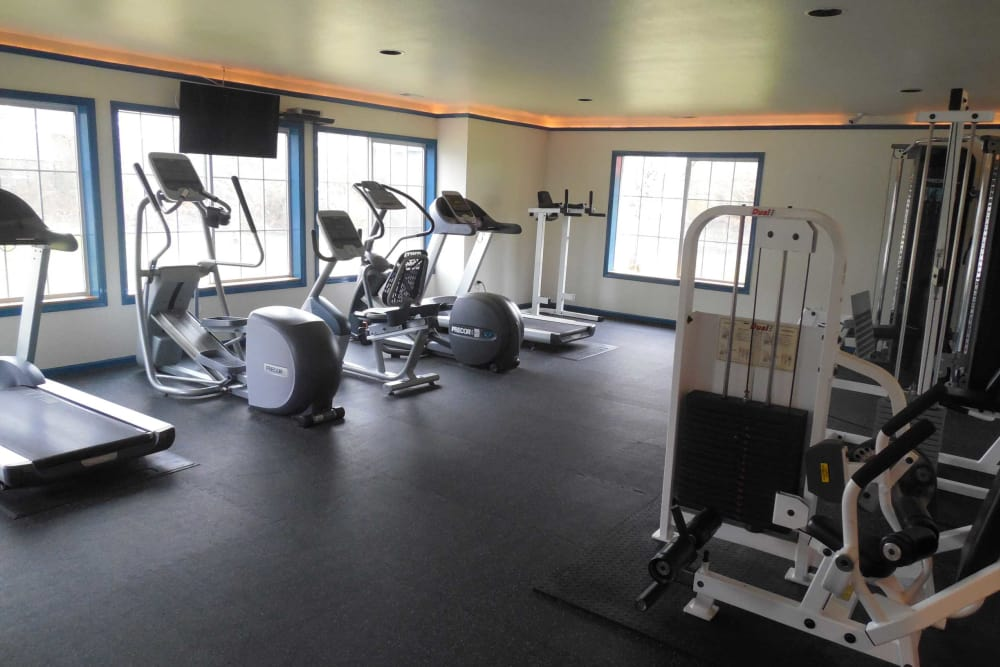 Fitness center at apartments in Corvallis, Oregon