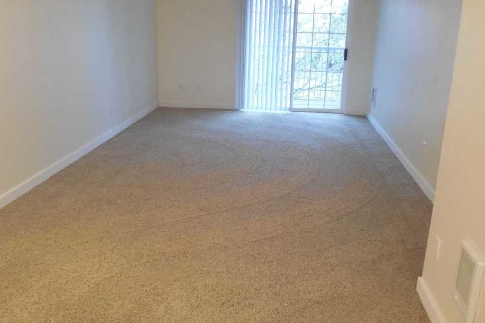 Spacious living room at Conifer Place Apartments