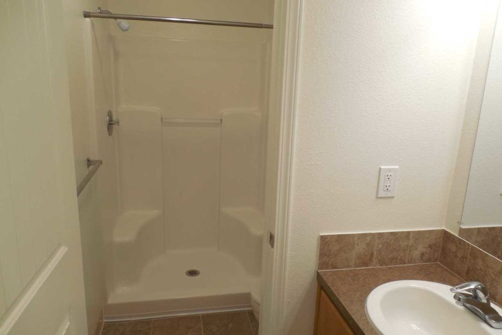 Bathroom at Conifer Place Apartments in Corvallis, Oregon