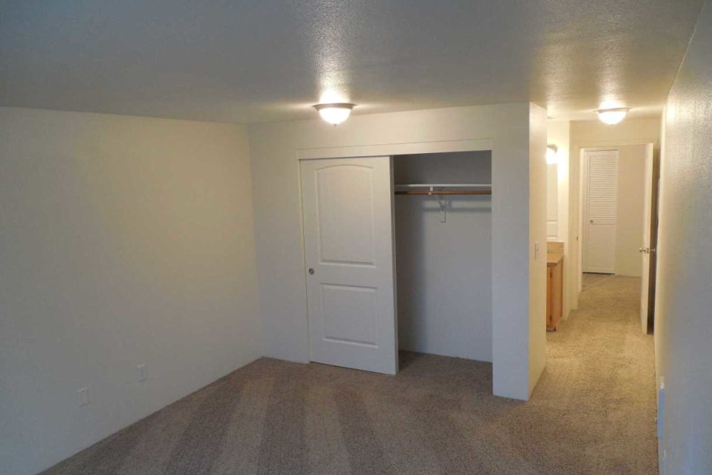 Bedroom at Conifer Place Apartments in Corvallis, Oregon