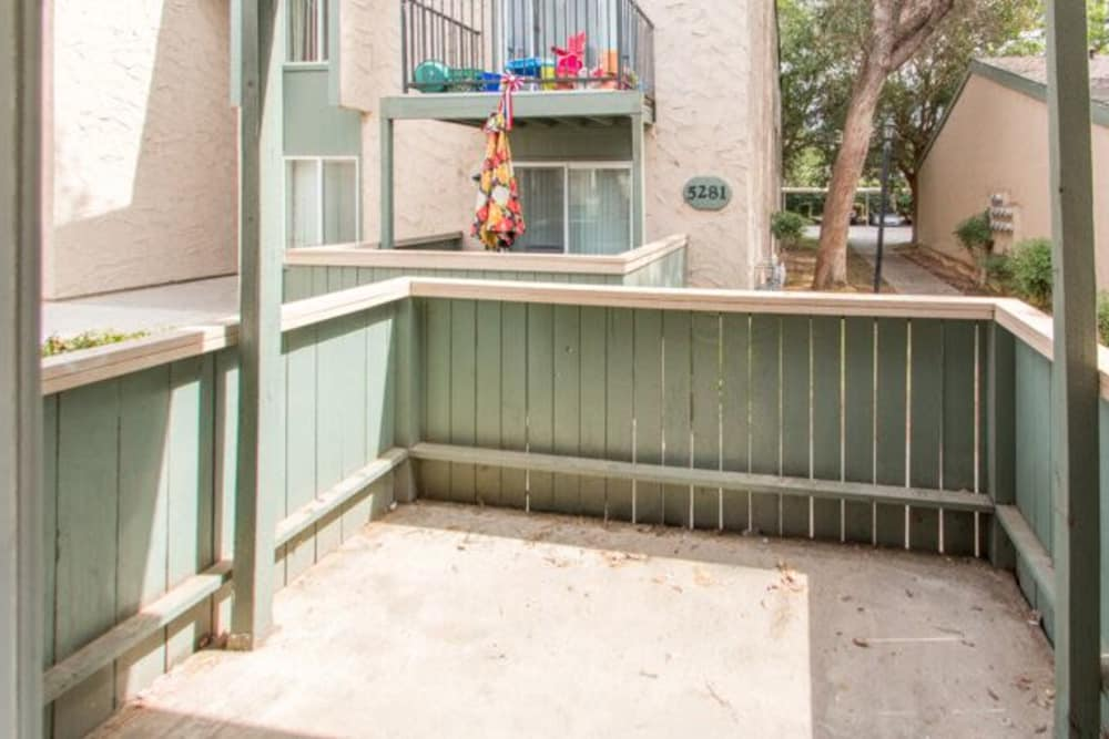 Private patio at apartments in Fresno, California