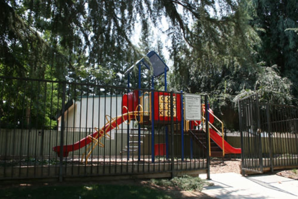 Playground at San Tropez Apartments in Fresno, California