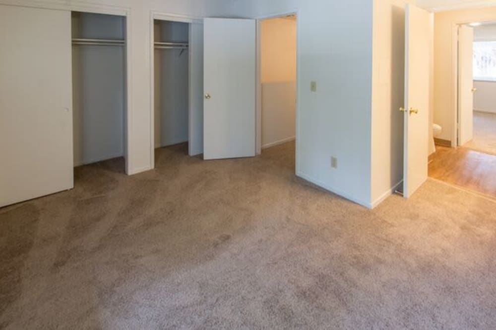 Bedroom at apartments in Fresno, California