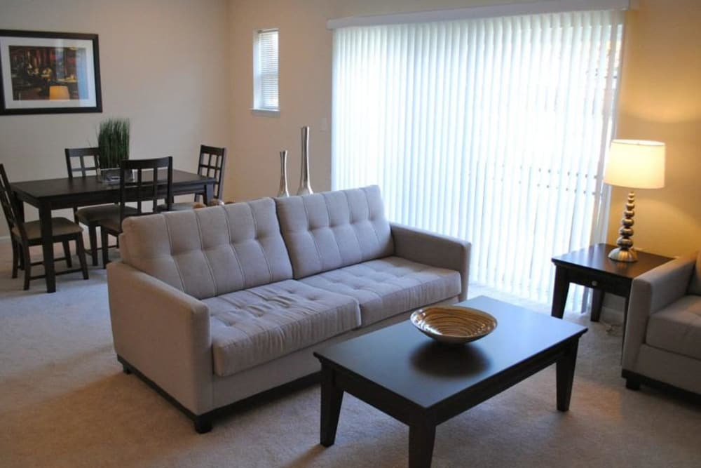 Our apartments in Ellicott City, Maryland have a cozy living room
