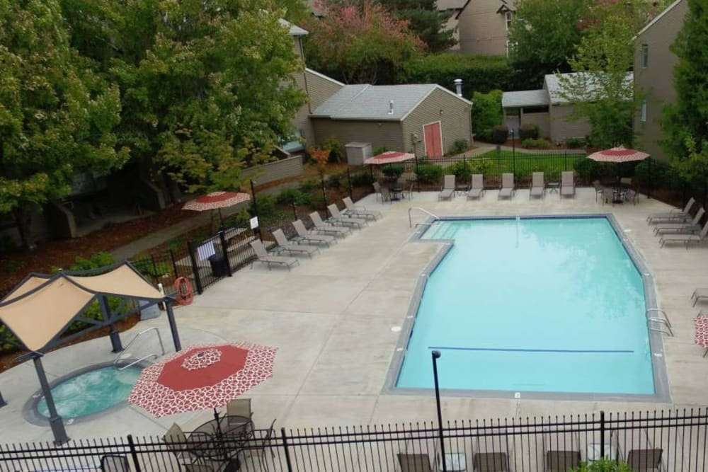 Swimming pool at Town Center Heights in Happy Valley, Oregon